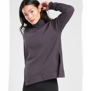 ARHLETA COZY KARMA Side Zip Funnel Neck Sweatshirt
